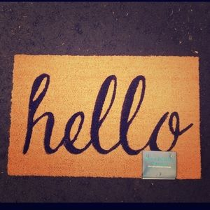 "Other - 18x28"" ""Hello"" natural coir outdoor doormat"